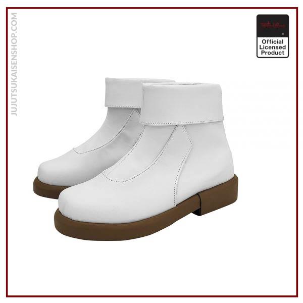 Anime Jujutsu Kaisen Toge Inumaki Cosplay Boots White Leather Shoes Custom Made Any Size 3 - Jujutsu Kaisen Shop