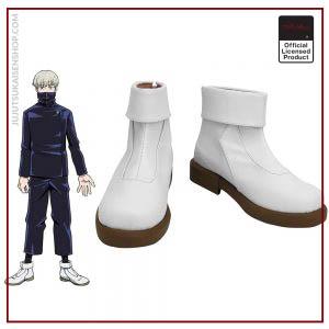 Anime Jujutsu Kaisen Toge Inumaki Cosplay Boots White Leather Shoes Custom Made Any Size - Jujutsu Kaisen Shop