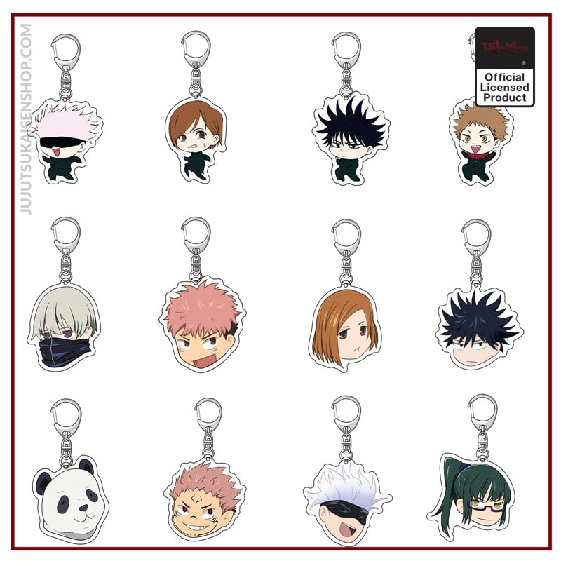 Jujutsu Kaisen Yuji Itadori Kugisaki Nobara Acrylic Keychain Key Rings Badge - Jujutsu Kaisen Shop