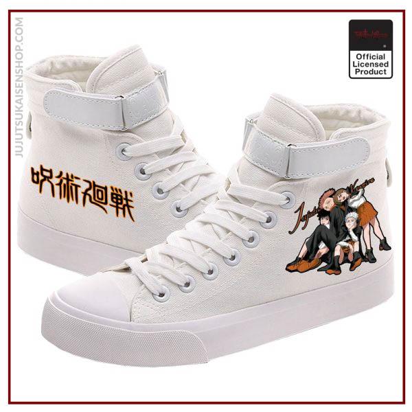 SUNOWE 2020 New Printed Jujutsu Kaisen High Top Canvas Shoes Men Women Fashion Breathable Sneakers 1 - Jujutsu Kaisen Shop