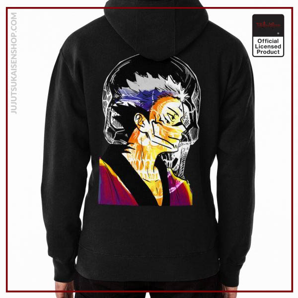 Romen Sukuna from Watercolor Drawn in Sunset Color Vibes Anime Hoodie