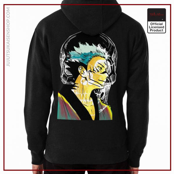 Ryomen Sukuna from Watercolor Drawn in Marble Color Vibes Anime Hoodie
