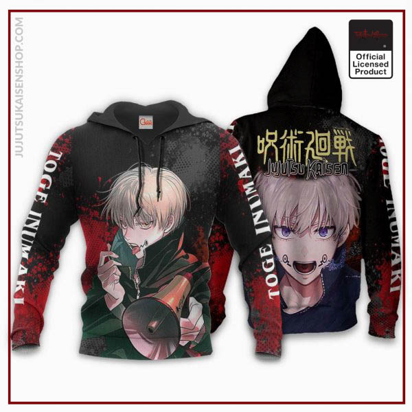 1207 AOP Jujutsu Kaisen VA Toge Inumaki 2 hoodie font and back - Jujutsu Kaisen Shop