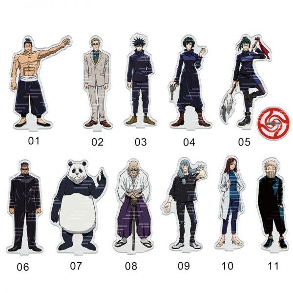 1pcs Anime Jujutsu Kaisen Acrylic Desk Stand Figures Models Teenagers Figures Plate Holder Stand Model Plate 1 - Jujutsu Kaisen Shop