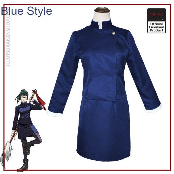 2020 Anime Zen in Maki Cosplay Costume Jujutsu Kaisen Maki Wigs Dark Green Ponytail Hair Woman 1 - Jujutsu Kaisen Shop