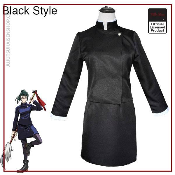 2020 Anime Zen in Maki Cosplay Costume Jujutsu Kaisen Maki Wigs Dark Green Ponytail Hair Woman 2 - Jujutsu Kaisen Shop