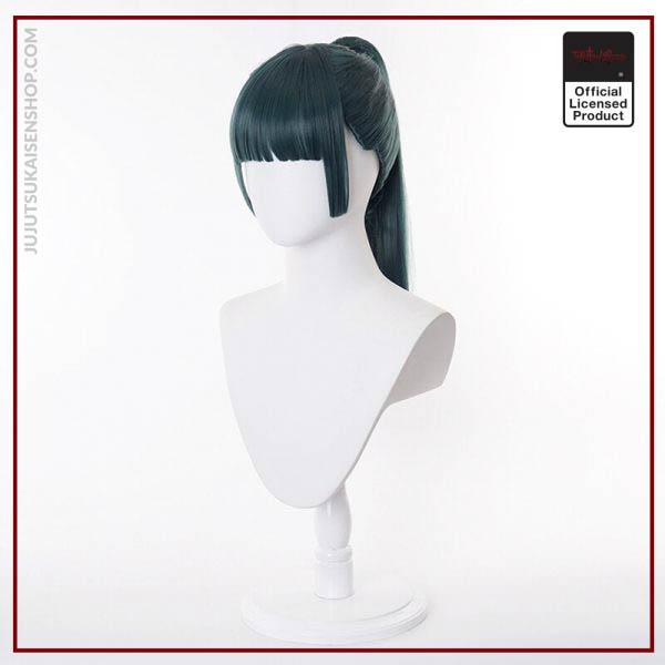 2020 Anime Zen in Maki Cosplay Costume Jujutsu Kaisen Maki Wigs Dark Green Ponytail Hair Woman 4 - Jujutsu Kaisen Shop