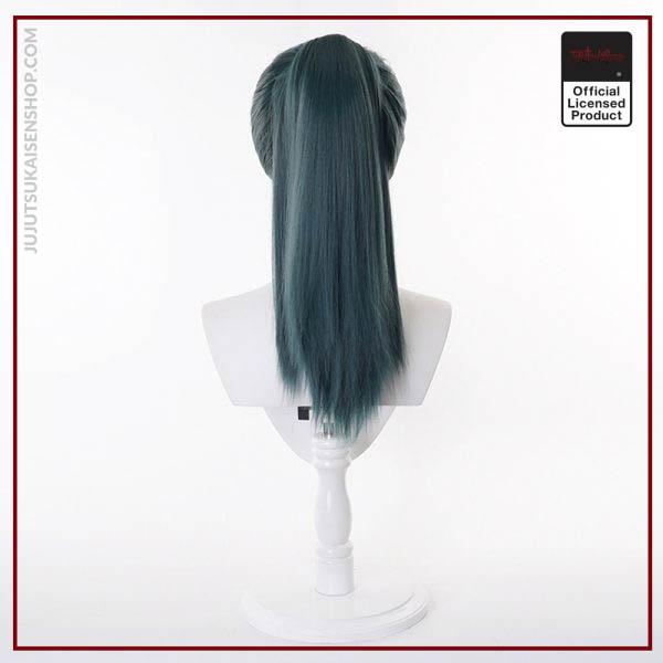 2020 Anime Zen in Maki Cosplay Costume Jujutsu Kaisen Maki Wigs Dark Green Ponytail Hair Woman 5 - Jujutsu Kaisen Shop