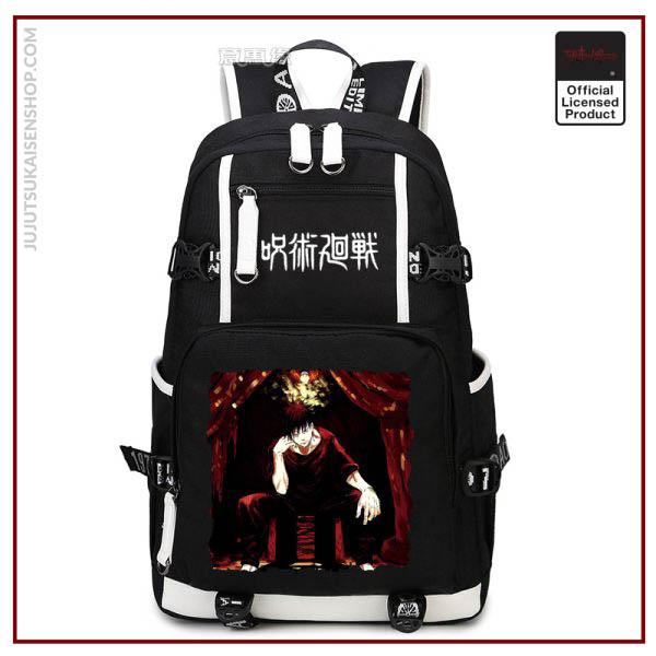 Anime Jujutsu Kaisen Yuji Itadori Backpack Cosplay Canvas Bag Schoolbag Travel Bags 4 - Jujutsu Kaisen Shop