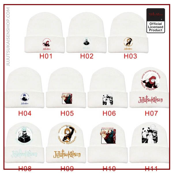 Autumn And Winter New Products Anime Jujutsu Kaisen Men And Women Printed Curled Hat Plush Warm 2 - Jujutsu Kaisen Shop