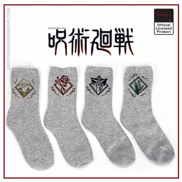 Japan Anime Jujutsu Kaisen Shorts Socks Itadori Yuuji Gojo Satoru Fushiguro Sukuna Gray Autumn Winter - Jujutsu Kaisen Shop