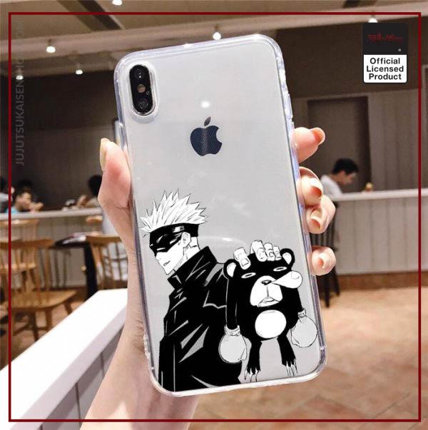 Jujutsu Kaisen Gojo sensei smiling Case For iPhone 12mini 7 Plus XS Case Phone Cover For 4 - Jujutsu Kaisen Shop