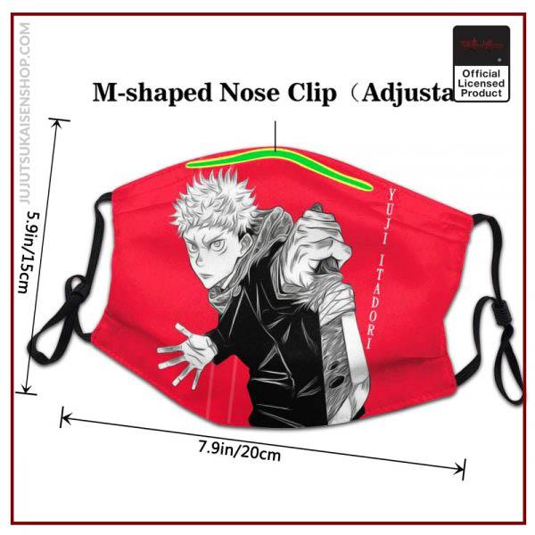 Jujutsu Kaisen Yuji Itadori Face Mask Men Anti Haze Otaku Japanese Anime Manga Mask Protection Respirator 2 - Jujutsu Kaisen Shop