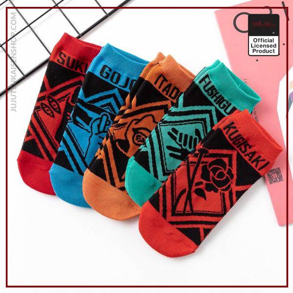 Socks female autumn and winter Japanese anime jujutsu kaisen boat socks cotton socks 2 - Jujutsu Kaisen Shop