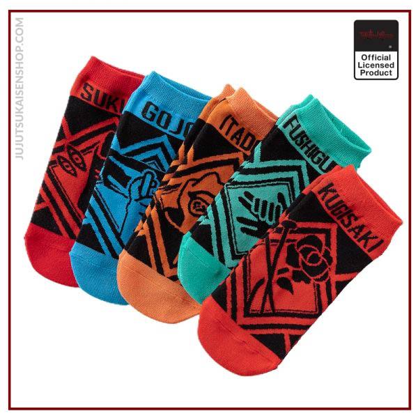 Socks female autumn and winter Japanese anime jujutsu kaisen boat socks cotton socks - Jujutsu Kaisen Shop