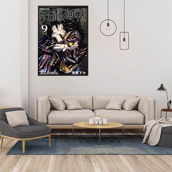 Anime Jujutsu Kaisen Posters Coated Paper Wall Art Painting Study Living Room Anime Activity Decoration Pictures 1 - Jujutsu Kaisen Shop