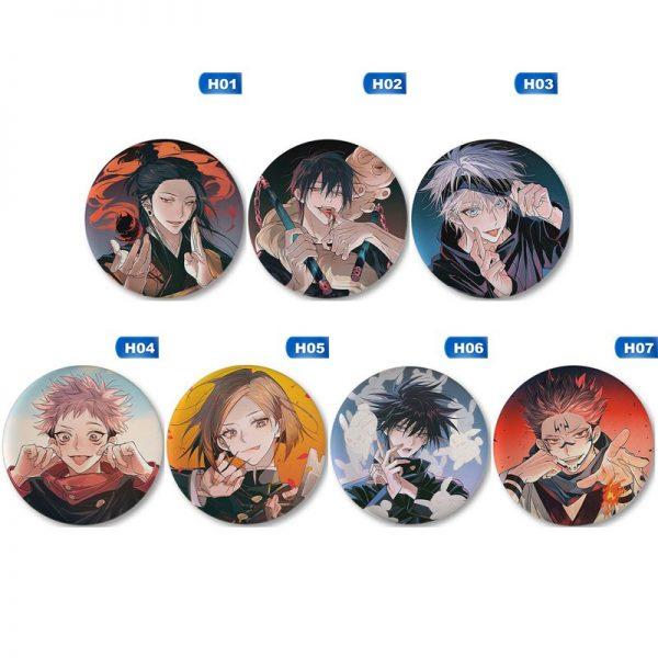 New Fashion Japanese Cartoon Anime Spells Return To Battle Jujutsu Kaisen Brooch Badge Jewelery Gift 1 - Jujutsu Kaisen Shop