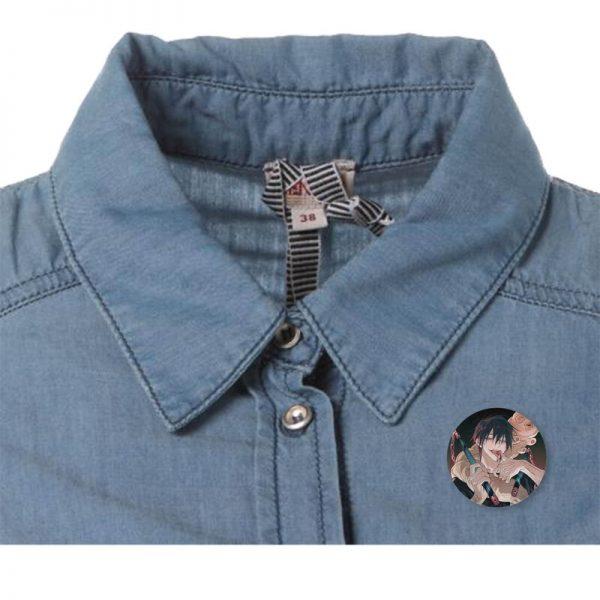 New Fashion Japanese Cartoon Anime Spells Return To Battle Jujutsu Kaisen Brooch Badge Jewelery Gift 2 - Jujutsu Kaisen Shop