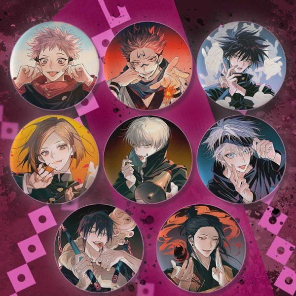 New Fashion Japanese Cartoon Anime Spells Return To Battle Jujutsu Kaisen Brooch Badge Jewelery Gift - Jujutsu Kaisen Shop