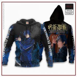 1207 AOP Jujutsu Kaisen VA Megumi Fushiguro 2 hoodie font and back - Jujutsu Kaisen Shop