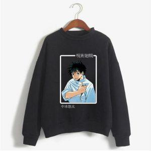 Anime Hoodies Cartoon Jujutsu Kaisen Pullover Sweatshirt Cosplay Otogu Yuta Sweatshirt Top Men - Jujutsu Kaisen Shop