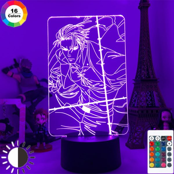Anime Jujutsu Kaisen 3D Led Night Light Nanami Kento Lamp for Kids Room Decor Birthday Gift - Jujutsu Kaisen Shop