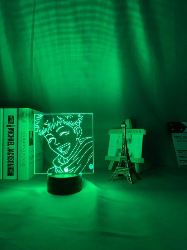 Anime Jujutsu Kaisen Led Night Light Yuji Itadori Lamp for Bedroom Decor Birthday Gift Yuji Itadori 3 - Jujutsu Kaisen Shop