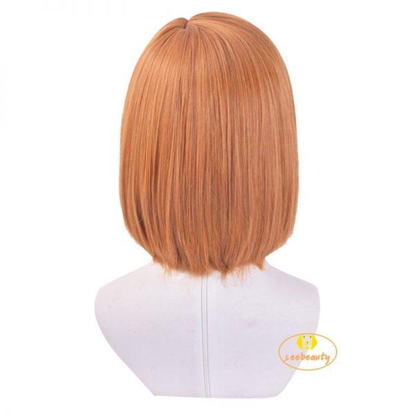Anime Jujutsu Kaisen Nobara Kugisaki Costume Cosplay Wig Brown Wig Women Role Play Wig Hair Cap 2 - Jujutsu Kaisen Shop
