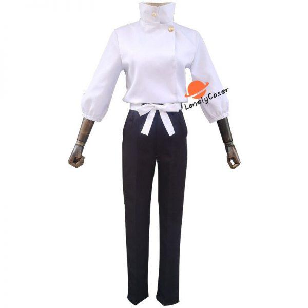 Anime Jujutsu Kaisen Otsukotsu Yuta Cosplay Costume Suit Wig White Top Pants Kimono Halloween Party Uniform 4 - Jujutsu Kaisen Shop