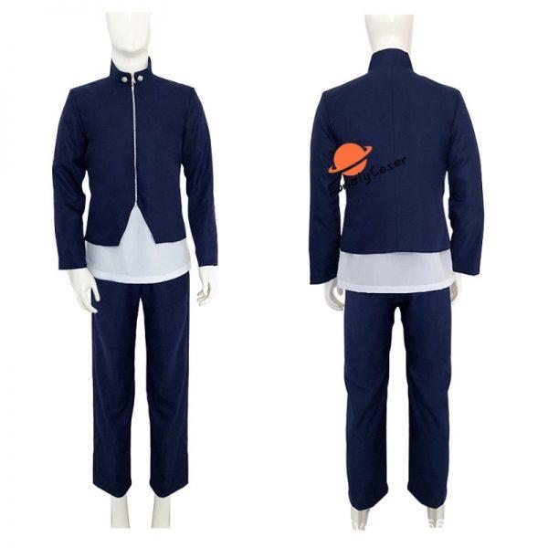 Anime Jujutsu Kaisen Yoshino Junpei Cosplay Costume Suit Wig Blue Black Top Pants Kimono Halloween Party 3 - Jujutsu Kaisen Shop