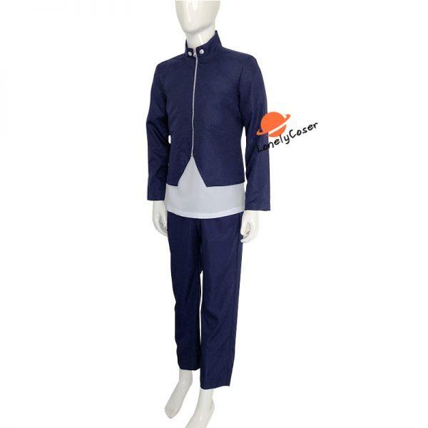Anime Jujutsu Kaisen Yoshino Junpei Cosplay Costume Suit Wig Blue Black Top Pants Kimono Halloween Party 4 - Jujutsu Kaisen Shop