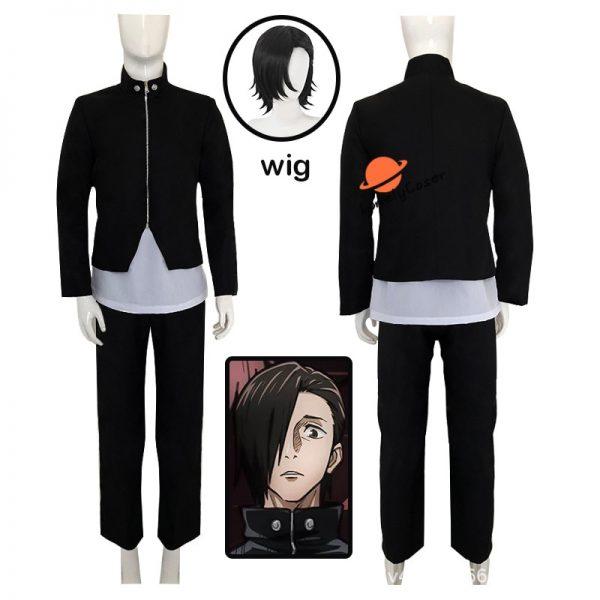 Anime Jujutsu Kaisen Yoshino Junpei Cosplay Costume Suit Wig Blue Black Top Pants Kimono Halloween Party - Jujutsu Kaisen Shop