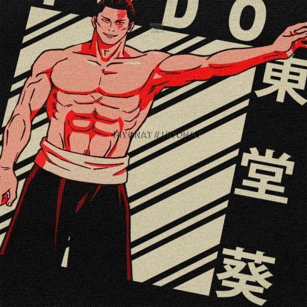 Aoi Todo T Shirt Men Soft Cotton Tshirt Handsome Tee Tops Short Sleeves Jujutsu Kaisen Yuji 2 - Jujutsu Kaisen Shop