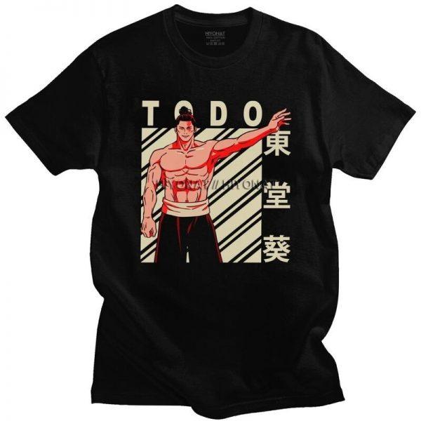 Aoi Todo T Shirt Men Soft Cotton Tshirt Handsome Tee Tops Short Sleeves Jujutsu Kaisen Yuji - Jujutsu Kaisen Shop