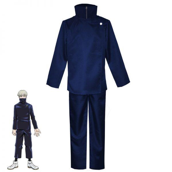 Hot New Anime Jujutsu Kaisen Toge Inumaki Cosplay Costume Fight Suit Short Straight Light Gray Wig 1 - Jujutsu Kaisen Shop