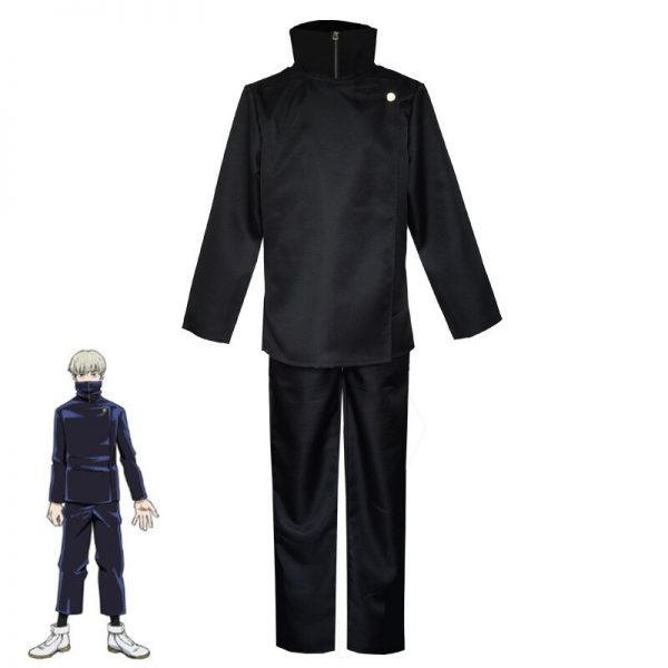 Hot New Anime Jujutsu Kaisen Toge Inumaki Cosplay Costume Fight Suit Short Straight Light Gray Wig 2 - Jujutsu Kaisen Shop