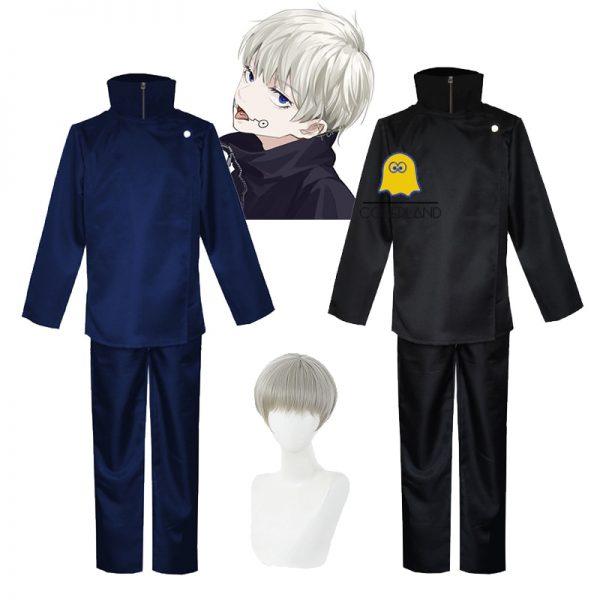 Hot New Anime Jujutsu Kaisen Toge Inumaki Cosplay Costume Fight Suit Short Straight Light Gray Wig - Jujutsu Kaisen Shop