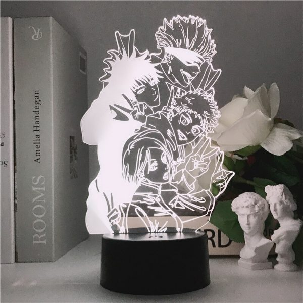 Jujutsu Kaisen 3D Illusion LED Night Light Manga Itadori Yuji Fans Kids Creative Gifts Table Lamps 1 - Jujutsu Kaisen Shop