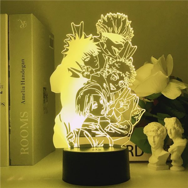 Jujutsu Kaisen 3D Illusion LED Night Light Manga Itadori Yuji Fans Kids Creative Gifts Table Lamps 2 - Jujutsu Kaisen Shop