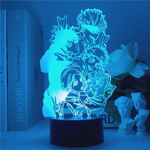 Jujutsu Kaisen 3D Illusion LED Night Light Manga Itadori Yuji Fans Kids Creative Gifts Table Lamps - Jujutsu Kaisen Shop