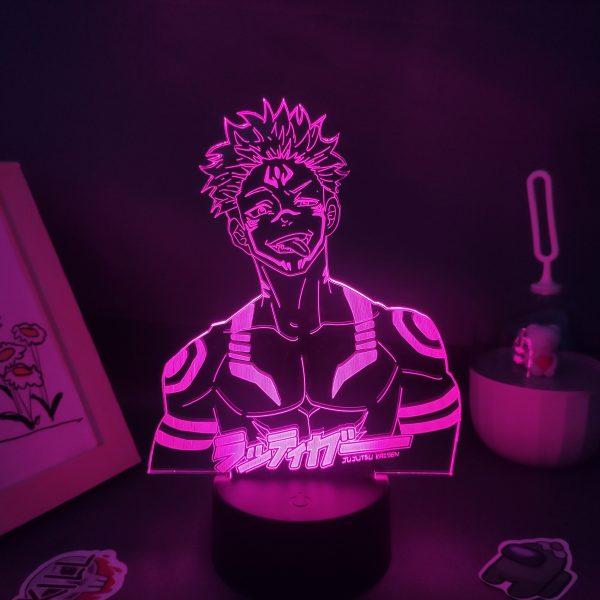 Jujutsu Kaisen Anime Figure Yuji Itadori Ryomen Sukuna 3D LED Lamp RGB Neon Night Lights Bedroom 1 - Jujutsu Kaisen Shop