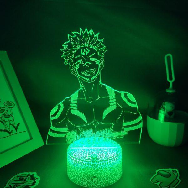 Jujutsu Kaisen Anime Figure Yuji Itadori Ryomen Sukuna 3D LED Lamp RGB Neon Night Lights Bedroom 5 - Jujutsu Kaisen Shop