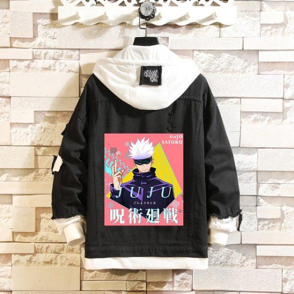 Jujutsu Kaisen Denim Jackets Yuji Itadori Sweater Coat Gojo Satoru Black Hole Jacket Audlt Hooded Coats 10.jpg 640x640 10 - Jujutsu Kaisen Shop