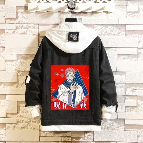 Jujutsu Kaisen Denim Jackets Yuji Itadori Sweater Coat Gojo Satoru Black Hole Jacket Audlt Hooded Coats 13.jpg 640x640 13 - Jujutsu Kaisen Shop