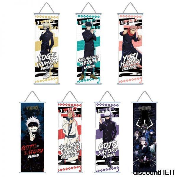 Jujutsu Kaisen Itadori Yuuji Fushigura Megumi Satoru Gojou HD Print Wall Poster Scroll Hanging Pictures - Jujutsu Kaisen Shop