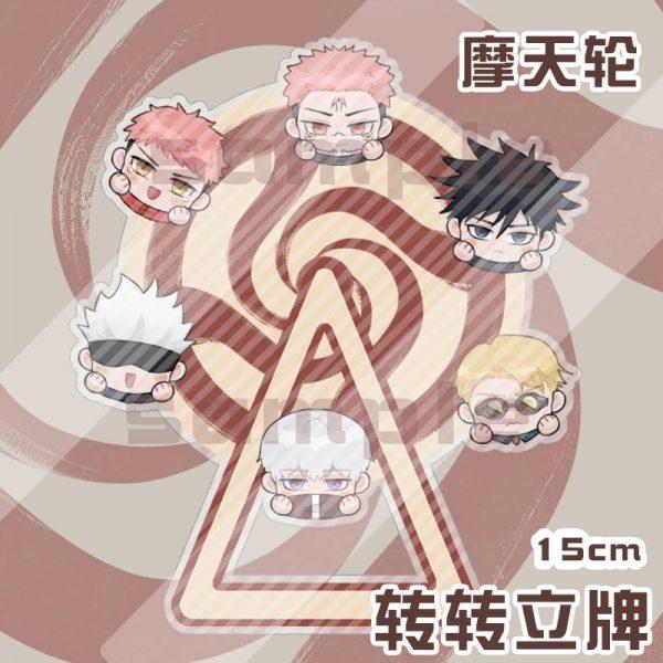 Jujutsu Kaisen Rotatable Ferris Wheel Cartoon Figure Stand Model Desktop Toy Nanami Kento Itadori Yuji Gojo - Jujutsu Kaisen Shop