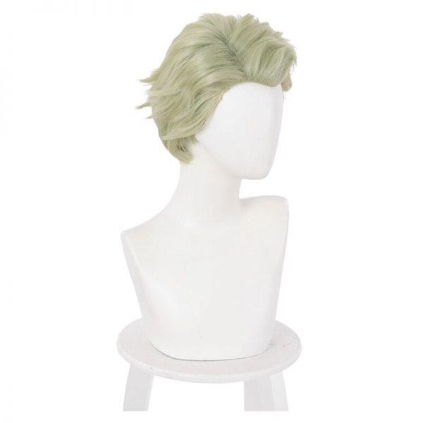 Nanami Kento Cosplay Wig Anime Jujutsu Kaisen Mixed Green Short Heat Resistant Synthetic Hair Halloween Party 4 - Jujutsu Kaisen Shop