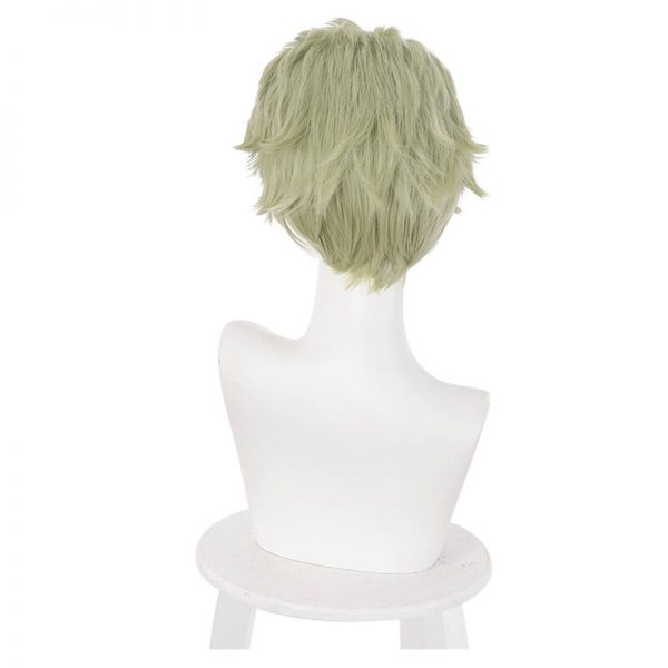 Nanami Kento Cosplay Wig Anime Jujutsu Kaisen Mixed Green Short Heat Resistant Synthetic Hair Halloween Party 5 - Jujutsu Kaisen Shop