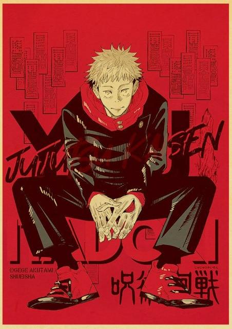 Retro style classic Japanese anime Jujutsu Kaisen family wall art decoration poster cafe bar wall sticker 15.jpg 640x640 15 - Jujutsu Kaisen Shop