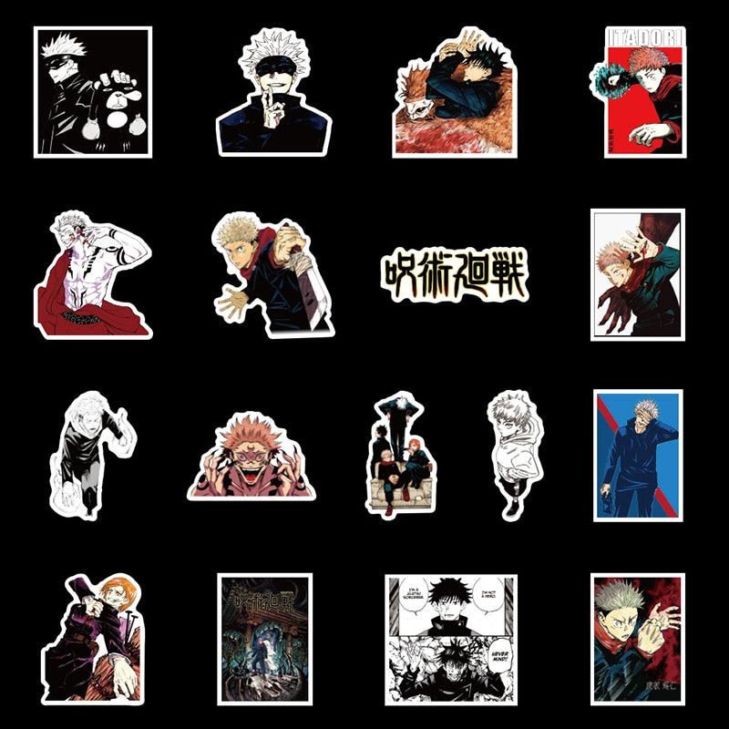 Jujutsu Kaisen Stickers: Sticker For Computer Guitar Refrigerator Suitcase